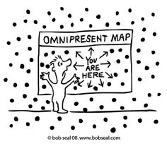 Non-Duality Cartoons: Omni-Map by bobseal: Non-Duality Cartoons #Carton #Non_Duality #Bob_Seal