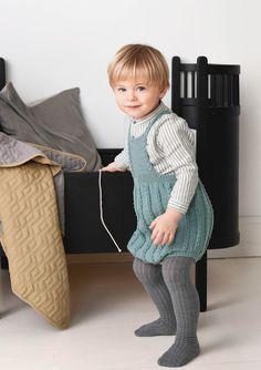1702 Smårollinger. Strikket Fletteromper Baby Alpaca, Mulberry Silk, Comfortable Outfits, Merino Wool, My Design, Pure Products, Summer Dresses, Knitting, Kids