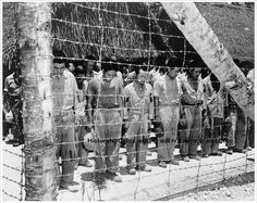1945 JAPANESE PRISONERS HEAR NEWS OF SURRENDER PHOTO