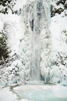 Multonomah Falls, Oregon, USA I WOULD LOVE TO SEE THIS DURING THE WINTER!
