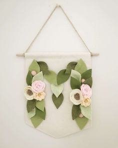 You could use this floral monogram banner in her nursery after the party!