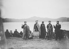 Kwakiutl group at Fort Rupert village - 1894