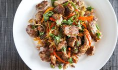 Jalapeño Stir Fried Pork is full of flavor and spice, and with a side of rice it's a deliciously filling meal.