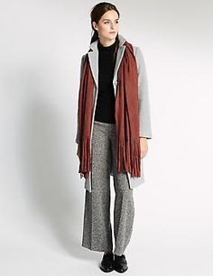 Get ahead of the upcoming season with our selection of new in women's clothing. Shop on-trend items, layering pieces and stylish accessories at M&S New Fashion, Womens Fashion, Tassel, Normcore, Seasons, Clothes For Women, Stylish, Lady, Outerwear Women