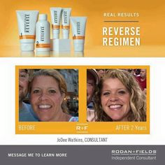 How many of us look 10 years younger 2 years later!!! I am going to! How about you?! JoDee Watkins enjoyed her previous career as a nurse and really LOVED her work! She was not looking to start a business but wanted great skincare! She saw a Before and After on Facebook and reached out to a friend...just like me! Three years later she is an RFx Circle Achiever and LOVING her business! Message me and let's get you started today!
