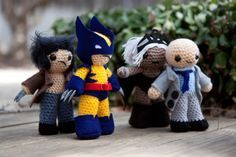 X-Men Super Hero Amigurumi Wolverine x2, Storm, Professor X