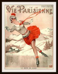 """French Magazine Paris """"La Vie Parisienne"""" Vintage Reproduction Art Print Belle Epoque, Illustrations Vintage, Art Deco Illustration, French Magazine, Magazine Art, Magazine Covers, Art Deco Posters, Vintage Posters, Vintage Images"""