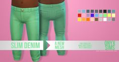 Sims 4 CC's - The Best: Slim Denim for Toddlers by onyxsims