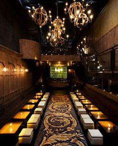 """Avenue - 116 10th Ave. (nr. 17th St.) Avenue, a two and a half million dollar """"gastro lounge"""" as owner, Noah Tepperberg, has coined it, is the definition of an """"it"""" place in New York City. The concept combines a bar/lounge with moving lights, a lot of seating and some eating. There is a DJ booth, but no dance floor, making conversation an integral part of the experience."""
