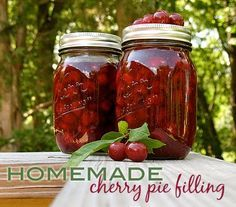 Homemade Cherry Pie Filling - this can be canned or the cherries can be frozen and used later to make the filling.
