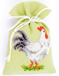 Bolsita Popurr�: gallo de Vervaco - Sacchettini Potpourri - Kits Bordado - Casa Cenina
