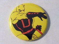 """Comic Book 1.5"""" Button// Daredevil (Yellow Costume), $1.00"""