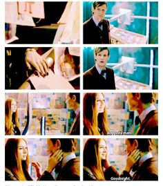 """Raggedy Man, Goodnight."" WAS THIS NECESSARY? <---In a way, I think it was, actually. He's still grieving over the loss of the Ponds. Even after all this time, he's still grieving. He didn't even get to say a proper goodbye. And neither did we. So, through this heart-shattering, soul-destroying moment, we all got to say our last goodbye."