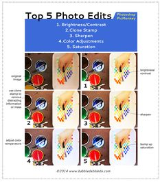 5 MUST-DO Photo Editing Tools & Tricks- For Photoshop & PicMonkey