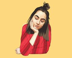 tumblr user: purplecurtainsart Another YouTuber portrait! This one is of Dodie Clark (Doddleoddle) based on a picture from her Instagram.