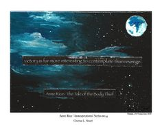 ANNESPIRATIONS Anne Rice inspired Art Print by MmmPieProd on Etsy, $6.00