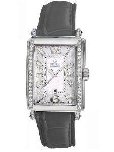 Gevril Women's 7249NE.7A White Mother-of-Pearl Genuine Alligator Strap Watch
