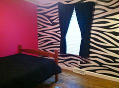 Large Zebra Stripes Wall Mural Paint By Number Wall Sticker - Zebra stripe wall decals