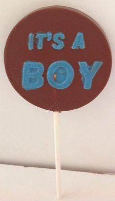 It's a boy lollipop