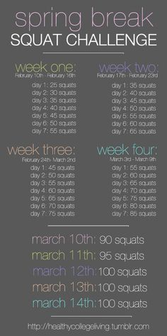 Squat Challenge- this would be a great rower's workout. I wish i still coached... my girls would hate/love this lol