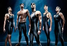 olympic swimmers | The US Olympic Swim Team sported Speedo Fastskin LZR Racer body suits