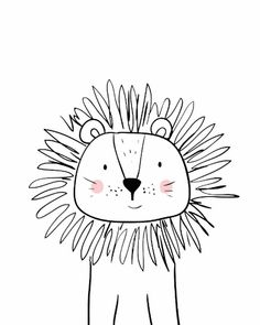Doodle Drawings, Easy Drawings, Doodle Art, Animal Drawings, Art Wall Kids, Art For Kids, Tier Doodles, Fuchs Illustration, Animal Doodles