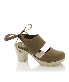 Another great find on #zulily! Olive Blanca Leather Clog Platform Sandal #zulilyfinds