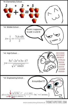 Funny pictures about Math through the years. Oh, and cool pics about Math through the years. Also, Math through the years photos. Funny Math Jokes, Math Memes, Math Humor, Stupid Funny Memes, Funny Relatable Memes, 9gag Funny, Funny Humor, Physics Humor, Funniest Jokes