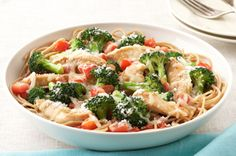Parmesan, Chicken & Broccoli Pasta for Two recipe--always double it!