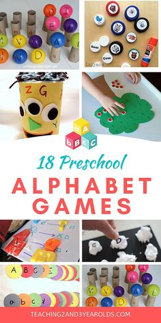 Looking for ways to work on the ABCs? These preschool alphabet games work on letter recognition and are hands-on fun! #preschool #alphabet #abc #letters #literacy #games #age3 #teaching2and3yearolds Letter Activities, Preschool Learning Activities, Preschool Activities, Alphabet Games For Preschoolers, Letter Games For Kids, Educational Games For Preschoolers, Abc Learning, Preschool Phonics, Health Activities