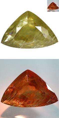 Diaspore 164392: 23.92Ct Supreme Trillion Cut 23 X 15 Mm Aaa Color Change Turkish Diaspore -> BUY IT NOW ONLY: $97.49 on eBay!