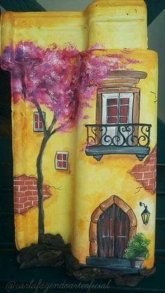 Ceramic Glaze Recipes, Clay Wall Art, Lighthouse Painting, Roof Tiles, Diy, Arts And Crafts, Maria Clara, Craft Art, Ceramics