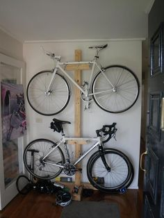 Functional Indoor Bike Storage Ideas Using Bookshelves : Small Garage Indoor Bike Storage Ideas Wooden Case