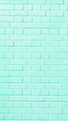 Wall brick wallpaper 26 New ideas Pastel Color Wallpaper, Mint Wallpaper, Iphone Background Wallpaper, Blue Wallpapers, Tumblr Wallpaper, Colorful Wallpaper, Galaxy Wallpaper, Aesthetic Iphone Wallpaper, Screen Wallpaper