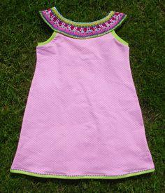 Dress with Crochet Top