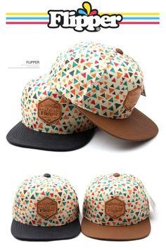 Unisex snapback Flipper triangle leather cotton mix baseball cap street fashion #Flipper