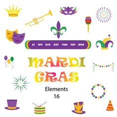 16 mardi gras svg mardi gras Silhouette and cricut Cut | Etsy Graphic Design Company, Graphic Design Inspiration, You Are Awesome, Amazing, Websites Like Etsy, Digital Backgrounds, Silhouette Cameo, Silhouette Studio, Vinyl Projects