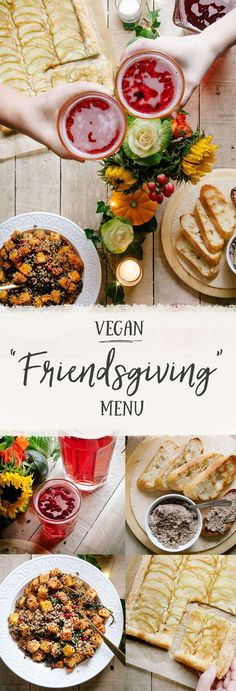 "Vegan ""Friendsgiving"" Menu - Vegan ""Friendsgiving"" Recipes The Effective Pictures We Offer You About air fryer recipes A qu - Vegetarian Thanksgiving, Thanksgiving Recipes, Fall Recipes, Holiday Recipes, Whole Food Recipes, Holiday Meals, Holiday Dinner, Recipes Dinner, Menu Vegan"