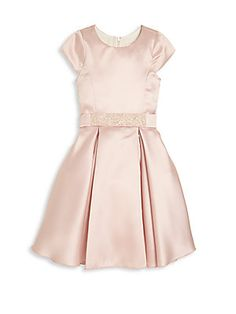 Zoe Girl's Belted Fit-&-Flare Dress