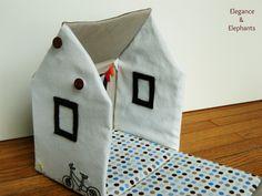 Elegance & Elephants: Fabric Toy House