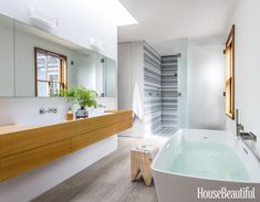Go Inside A Modern Kids' Bathroom Makeover Bathroom Design Trends In 2019 Bathroom Trends pertaining to [keyword Zen Bathroom Design, Contemporary Bathroom Designs, Best Bathroom Designs, Modern Master Bathroom, Bathroom Renos, Bathroom Interior Design, Modern Bathrooms, Bathroom Wall, Kitchen Design