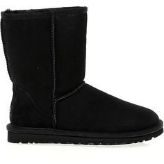 Ugg Australia Ankle Boots ($235) ❤ liked on Polyvore featuring shoes, boots, ankle booties, suede ankle booties, bootie, ankle boots, black bootie and short boots