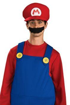 Amazon.com: Super Mario Brothers, Deluxe Hat, Mario: Clothing