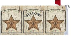 Weathered Star Welcome - Decorative Mailbox Makeover - Rural Size Mailbox Magnetic Cover Large Mailbox, Metal Mailbox, Mailbox Makeover, Magnetic Mailbox Covers, Bold Colors, Magnets, Stars, Outdoor Decor, Magnetic Strips