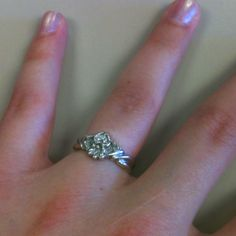 My Claddaugh engagement ring