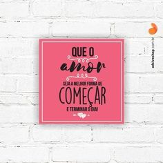 """Placa Decorativa """"O Amor"""""""