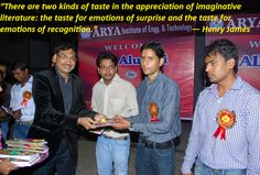 Arya institute of engineering and technology conducts an #alumni meet every year for acknowledging and rewarding the excellence of their x-students and wish them good luck for their future endeavor.  #reward #excellence