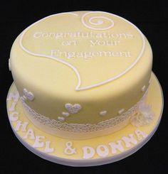 Michael & Donna's Engagement Cake