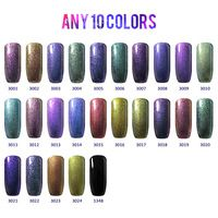 Any 10 Colors BELLE FILLE 3D Bling Earth Yellow peacock green Chameleon UV Gel Nail Manicure Varnish 10ml Soak off DIY Nail Art