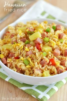 Recipe For Hawaiian Fried Rice - This Hawaiian version I'm sharing today is a new favorite. It has all the elements of traditional fried rice, but with a lot more flavor and texture.